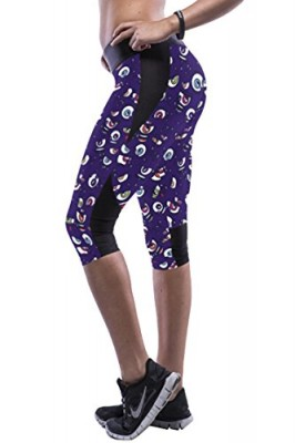 Pink-Queen-Girls-Monsters-University-Print-Hiking-Stretch-Capri-Legging-0