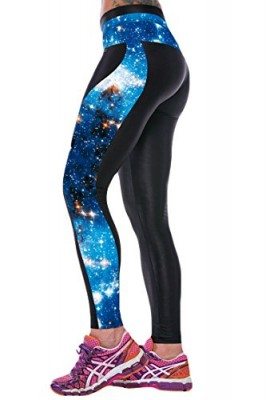 Pink-Queen-Trendy-3d-Blue-Galaxy-Print-Sport-Traning-Leggings-Tights-0