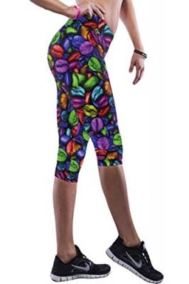 Pink-Queen-Womens-Multicoloured-Coffee-Bean-Printed-Knee-Length-Leggings-0