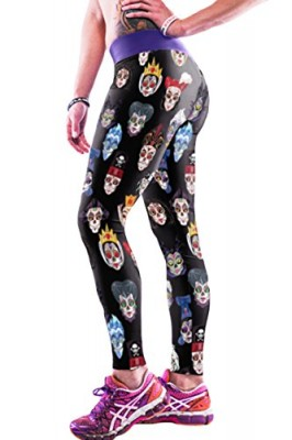 Pink-Queen-Womens-Stylish-Ugly-Cartoon-Printed-Absolute-Workout-Tights-0