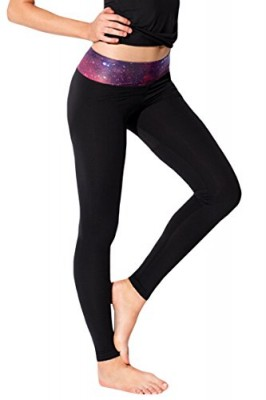 Pink-Queen-Womens-Workout-Active-Galaxy-Printed-Waistband-Leggings-Tights-0