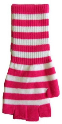 Pink-and-White-Striped-Fingerless-Texting-Gloves-Knit-0