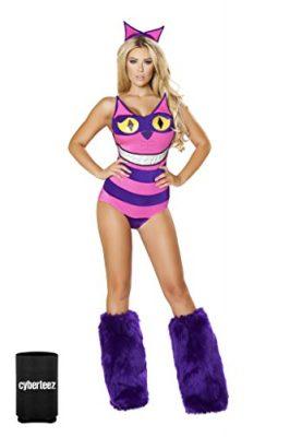 Sexy-2pc-Womens-Cheshire-Cat-Alice-In-Wonderland-Romper-Costume-Koozie-0