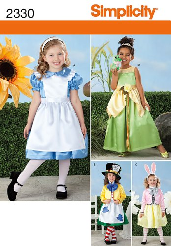 Simplicity Sewing Pattern 40 Child's Alice In Wonderland Costumes Custom Simplicity Costume Patterns