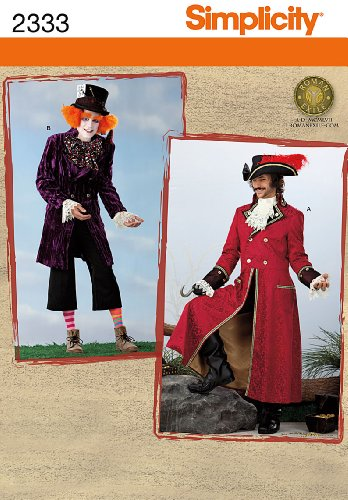 Simplicity Sewing Pattern 2333 Men\'s Costumes Size AA (XS-S-M ...