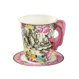 Talking-Tables-Truly-Alice-Whimsical-Party-Cup-and-Saucers-12-Pack-Multicolor-0-0
