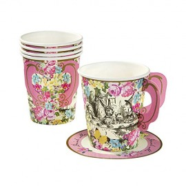 Talking-Tables-Truly-Alice-Whimsical-Party-Cup-and-Saucers-12-Pack-Multicolor-0