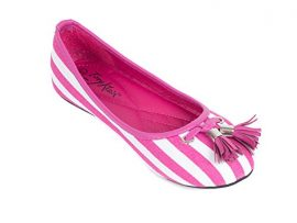 Women-Striped-Canvas-Ballerina-Flats-Shoes-with-Tassels-0-2