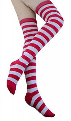 Women-Striped-Socks-Over-the-Knee-Cotton-Long-Tube-Stockings-W001-one-size-rose-0