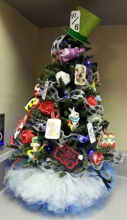 Alice In Wonderland Christmas Tree Decoration Ideas