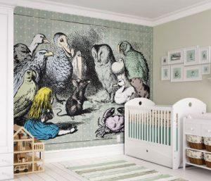 Wonderland illustration wallpaper