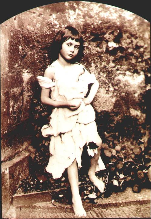Alice Liddell as a beggar-child. Probably late 1850s (source: Lewis Carroll in Wonderland. The life and times of Alice and her creator, Stephanie Lovett Stoffel, 1997, p.1)