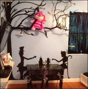 Alice in Wonderland themed room