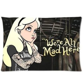 andersonfgytyh-Alice-in-Wonderland-Were-All-Mad-Here-Pillowcase-Pillow-Case-Cover-Standard-20x30-Two-Sides-0