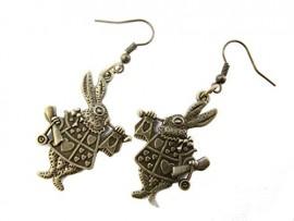 bronze-Rabbit-Earrings-Rabbit-Jewelry-AliceRabbitbrass-Earringsvintage-Style-Earrings-Charm-Earrings-0
