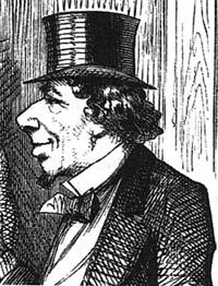 Benjamin Disraeli by John Tenniel, in 'Punch', 1871