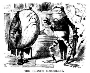 "John Tenniel - ""The Gigantic Gooseberry."", Punch, 15 July 1871"
