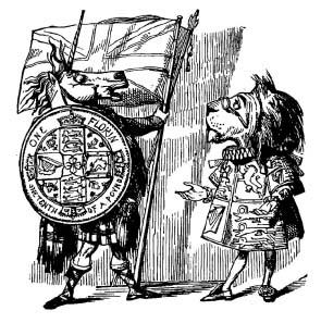 John Tenniel - The British lion and the Scottish unicorn, Punch, January-June 1853