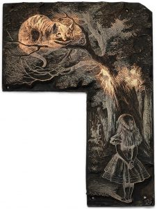 electrotype block - Alice meets the Cheshire Cat
