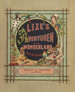 "Cover of the facsimile of ""Lize's Avonturen in het Wonderland"""