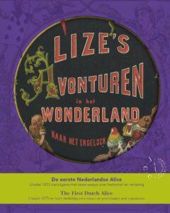 """Dust cover of the facsimile of """"Lize's Avonturen in het Wonderland"""""""