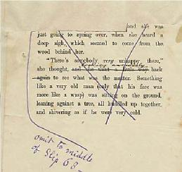 galley proofs with handwritten instructions from Carroll