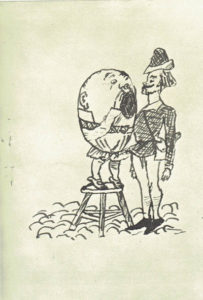 Lewis Carroll's own design for Humpty Dumpty