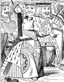Tenniel's King and Queen of Hearts