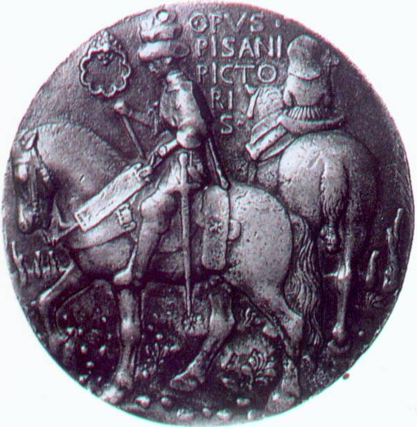 Medallion of a medieval knight