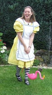 Lenny in Alice costume
