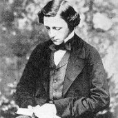 Charles Ludwidge Dodgson (Lewis Carroll) reading