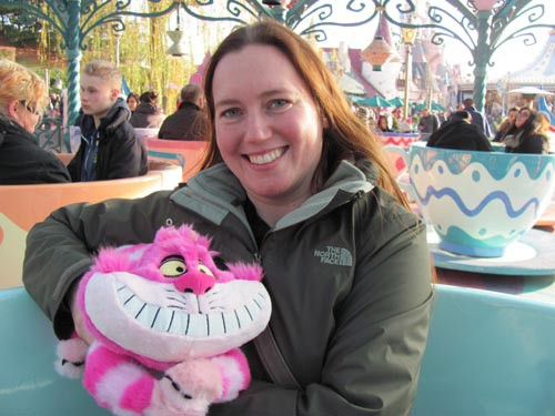 Me with the Cheshire Cat plush