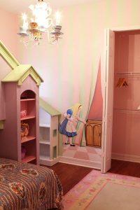 Alice nursery wallpaper