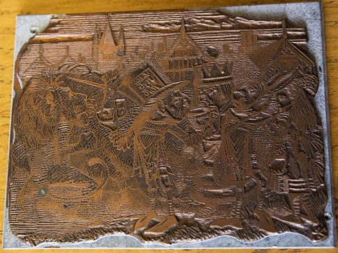 Copper plate of the Haigha and Hatta illustration