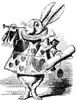 John Tenniel's White Rabbit in herald outfit
