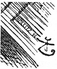 Rollitz signature near Tenniel's monogram