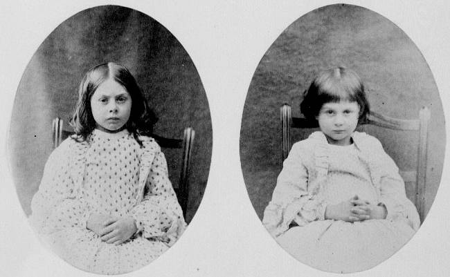 Alice with her sister Lorina