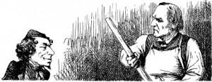 Disraeli and Gladstone by John Tenniel (cartoon detail), Punch, 1 July 1871