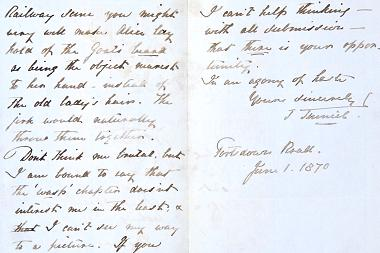 Letter from Tenniel to Carroll