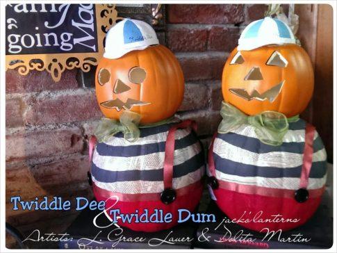 Tweedledum & Tweedledee pumpkins