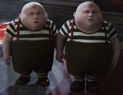 Tweedledum & Tweedledee by Tim Burton