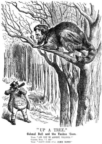"""Up a Tree"" by John Tenniel, 1862"