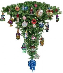 Topsy-turvy Christmas tree Source: https://www.pinterest.com/pin/335096028498352349/