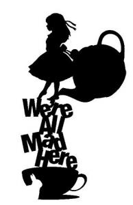 Alice in Wonderland vinyl sticker