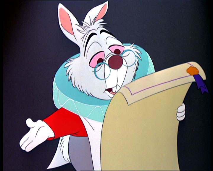 White Rabbit reading accusations