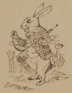 Draft of the White Rabbit by Tenniel