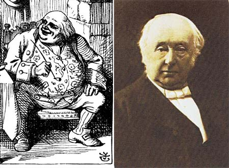Father William (by John Tenniel) versus Benjamin Jowett (photo by Charles Dodgson)